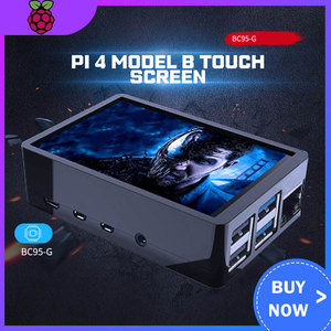 3.5 inch Raspberry Pi 4 Model B Touch Screen 480*320 LCD Display + Touch Pen + Dual Use ABS Case Box Shell for Raspberry Pi 4(China)