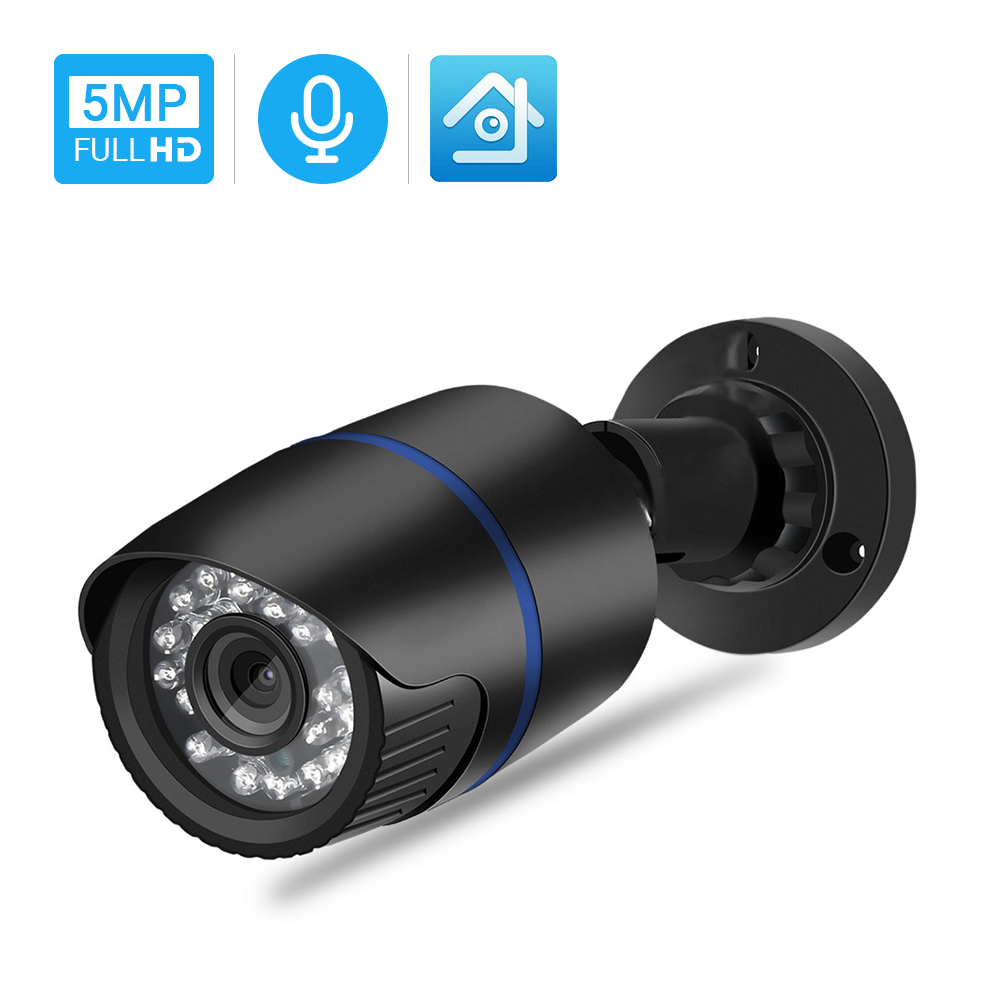 Hamrolte IP Camera Sony IMX335 Senor 5MP Onvif IP Camera Audio Record Motion Detection Waterproof Outdoor Surveillance Camera