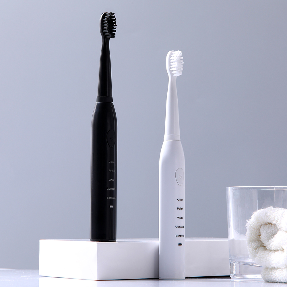 Best 5 Modes Sonic Electric Toothbrush Rechargeable USB + 4 Replacement Heads Waterproof Timer Tooth Brush Whitening for Adults
