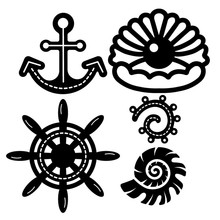 YaMinSanNiO Anchor Metal Cutting Dies Marine Life Shell DIY Etched Craft Paper Card Making Scrapbooking Embossing New 2019