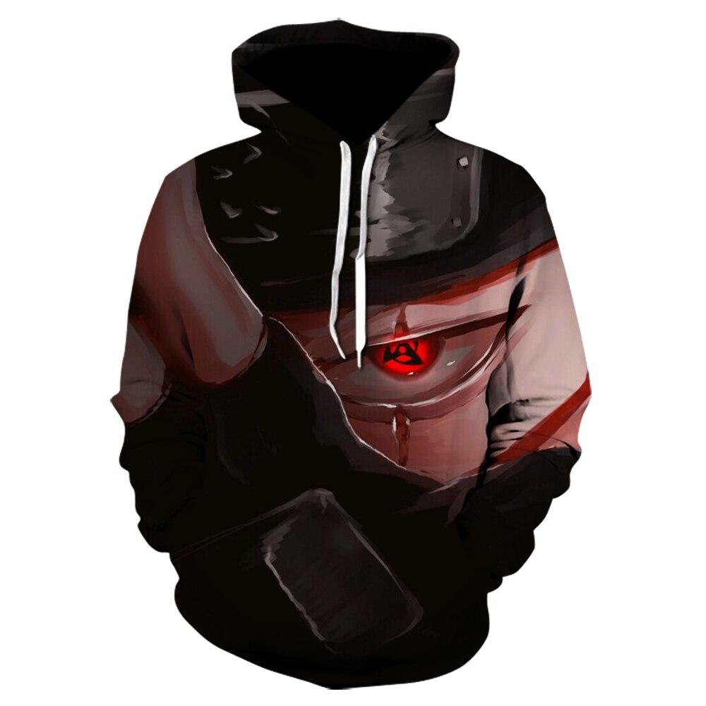 3d Print New Hooded Sweatshirts Men 3d Hoodies Anime Naruto Hatake Kakashi Hoodie Male Female Casual Long Sleeve Outerwear