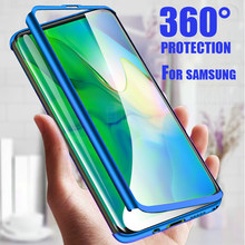 360 Degree Phone Case For Samsung Galaxy A50 S10 S9 S8 Plus A7 2018 Note 9 8 A9 A8 A5 Protective Cover For J4 J5 J6 J7 M20 Case(China)