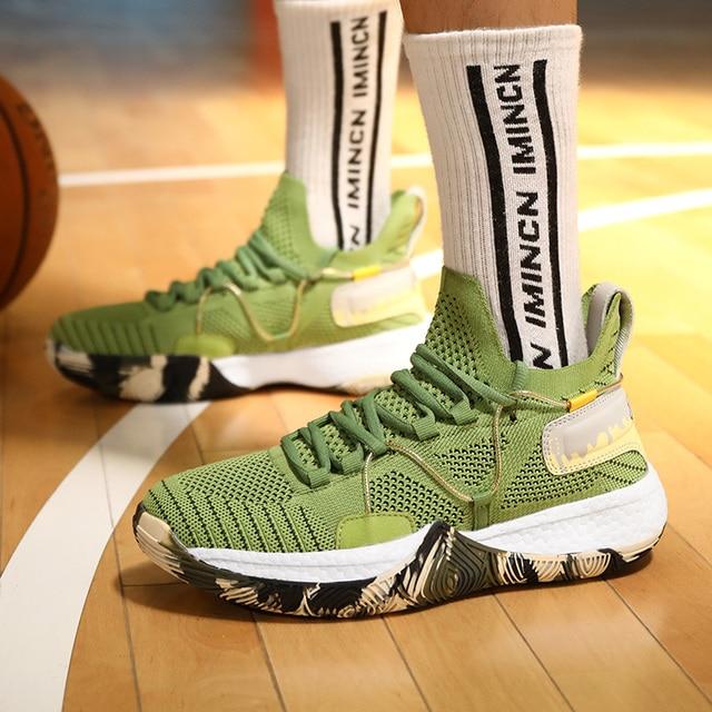 Zapatillas de baloncesto profesionales para hombre y mujer, calzado deportivo para entrenamiento de atletismo, trotar, parejas 4