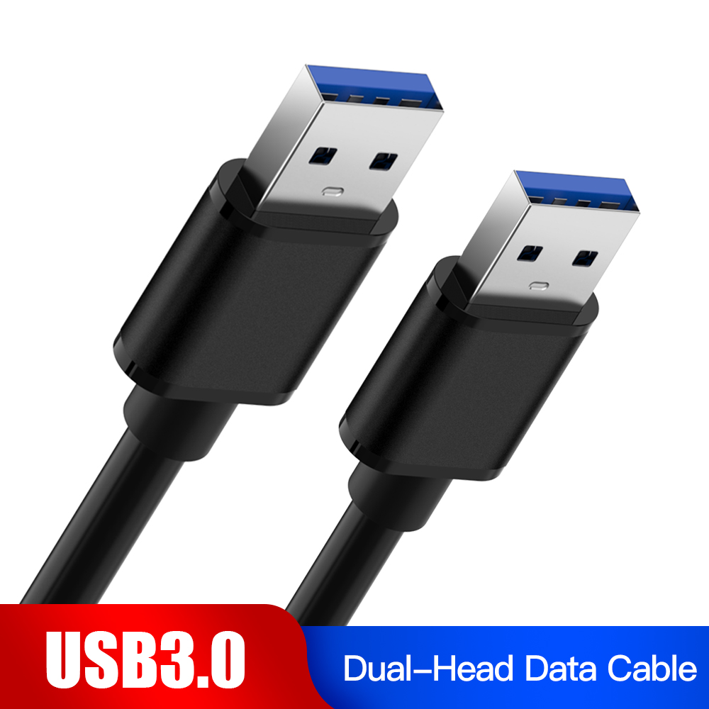 USB 3.0 Extension Cable Dual Type A Male to Type A Male Data Sync Cord Cable 5Gbps Super Speed For Radiator Laptop PC Printer image
