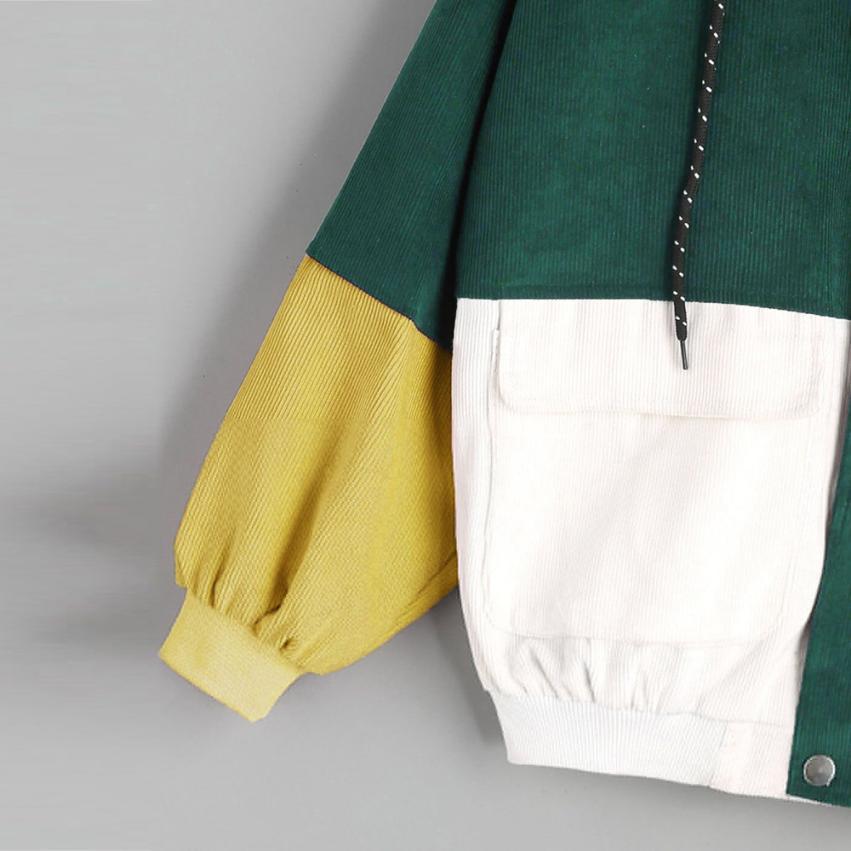 Hb8027e108ae94ec1ab385509cab4fa377 Outerwear & Coats Jackets Long Sleeve Corduroy Patchwork Oversize Zipper Jacket Windbreaker coats and jackets women 2018JUL25