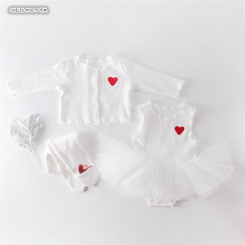 Baby Girl Clothes Newborn Baby Clothes Set Baby Cardigan + Baby Dress 2pcs/set Baby Girl Dress 1st Birthday Dress For Baby Girl