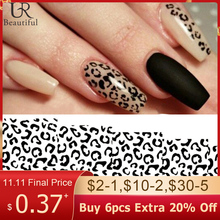 1pcs Sexy Leopard Nail Art Water Transfer Stickers Decals Animal Charm DIY Full Wrap Slider Manicure Decoration Accessory BEB304