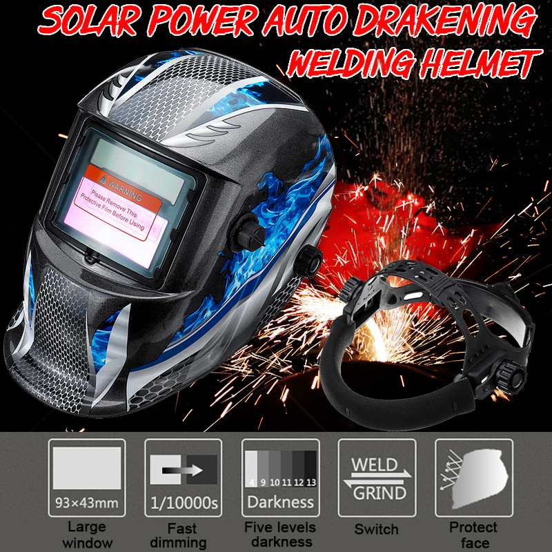Professional Solar Auto Darkening MIG MMA Electric Welding Mask Helmet Welding Lens For Welding Machine