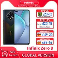 100% original infinix zero 8 versão global mobilephone 6.85 polegada 90hz helio g90t octa núcleo 8gb 128gb 33w carga super