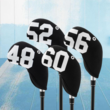 Set Club-Cover Wedges Iron-Head-Covers Sticker Golf-Club Neoprene with Closure Premium