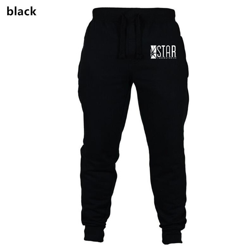 New Style Men Star Fitness Athletic Pants Men's Solid Color Woven Nap Ouma Casual Pants Europe And America Sports