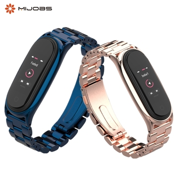 For Mi Band 4 3 Strap Metal Stainless Steel For Xiaomi Mi Band 3 4 Strap Compatible Bracelet Miband 3 4 Wristbands Pulseira