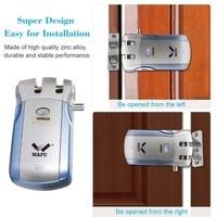 Wafu WF 019 Wireless Electric Door Lock Smart Keyless Security Door Lock with 4 Remote Controllers Deadbolt Easy Installing|Electric Lock| |  -