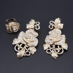 Image 5 - Fashion African Jewelry Set  Dubai Gold Jewelry Set Women Customer Nigerian Wedding Brand Jewelry Set Flower Design Gift