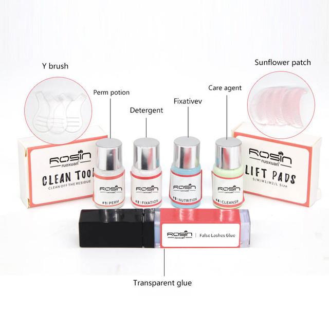 Professional Lash lift Kit Makeup Eyelash Perming Kit Eyelash Curling Perming Set Curler Rod Glue Perm Lotion Lashes Lifting