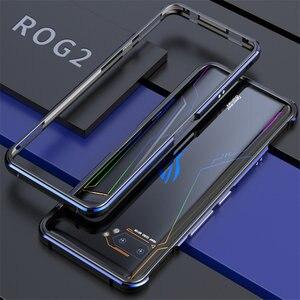 Für ASUS ROG 2 ROG2 Fall Metall Rahmen Doppel Farbe Aluminium Stoßfänger Schützen Abdeckung für ASUS ROG Telefon II Fall