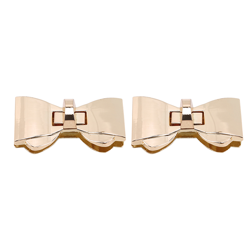 Luxury Designer Bowknot Shape Clasp Turn Locks Twist Lock DIY Leather Handbag Bag Hardware Bags Accessories Gold