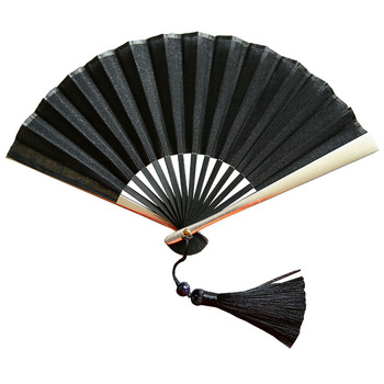 Abanico plegable a mano De estilo chino, Decoración Retro negra, Abanicos decorativos...
