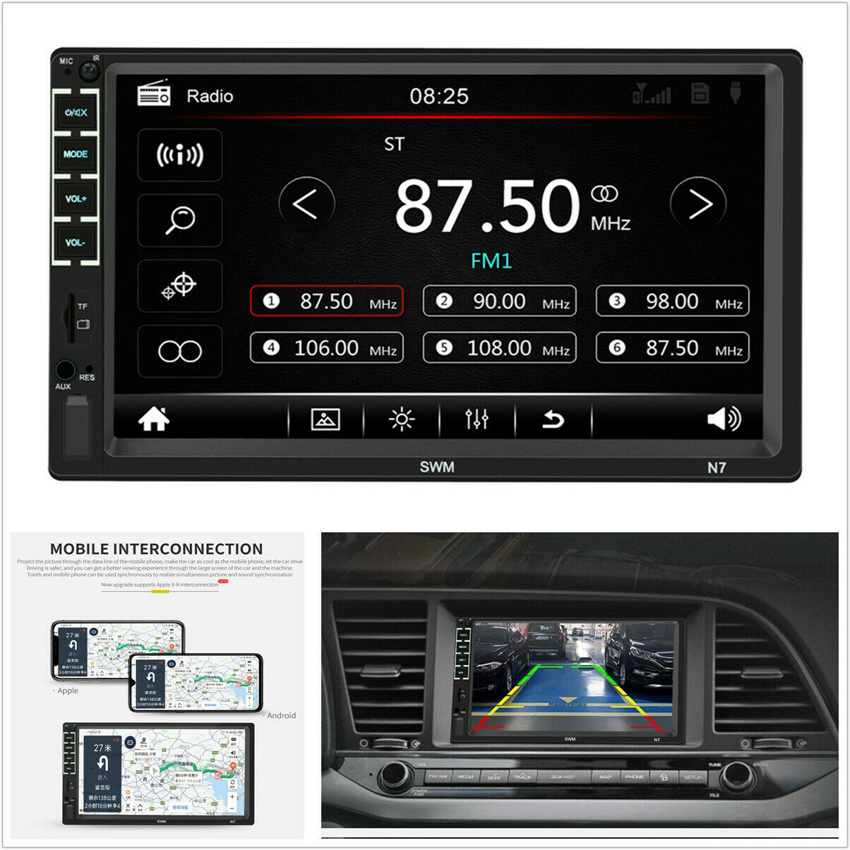 Autoradio 7 Double 2 DIN Head Unit Car Stereo MP5 Player Touch Screen Radio FM/USB/AUX image