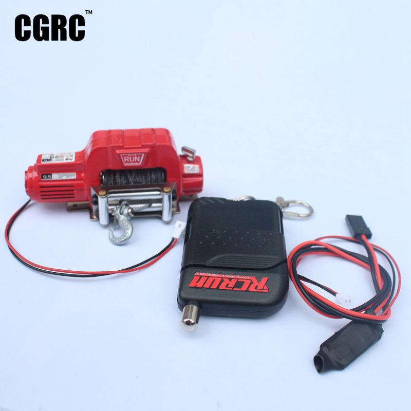 RC Car Wireless Control Metal Electric Winch For 1/10 RC Crawler Car Traxxas TRX4 TRX6 SCX10 90046 TF2 CC01 D90 DIY Accessories