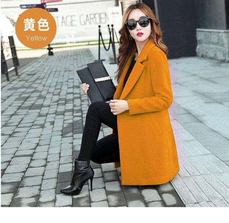 YICIYA Winter autumn Coat Women Wool Jacket Long Oversized Coats Plus Size Large Black Blend Woolen Warm Outerwear 2019 Clothing 3