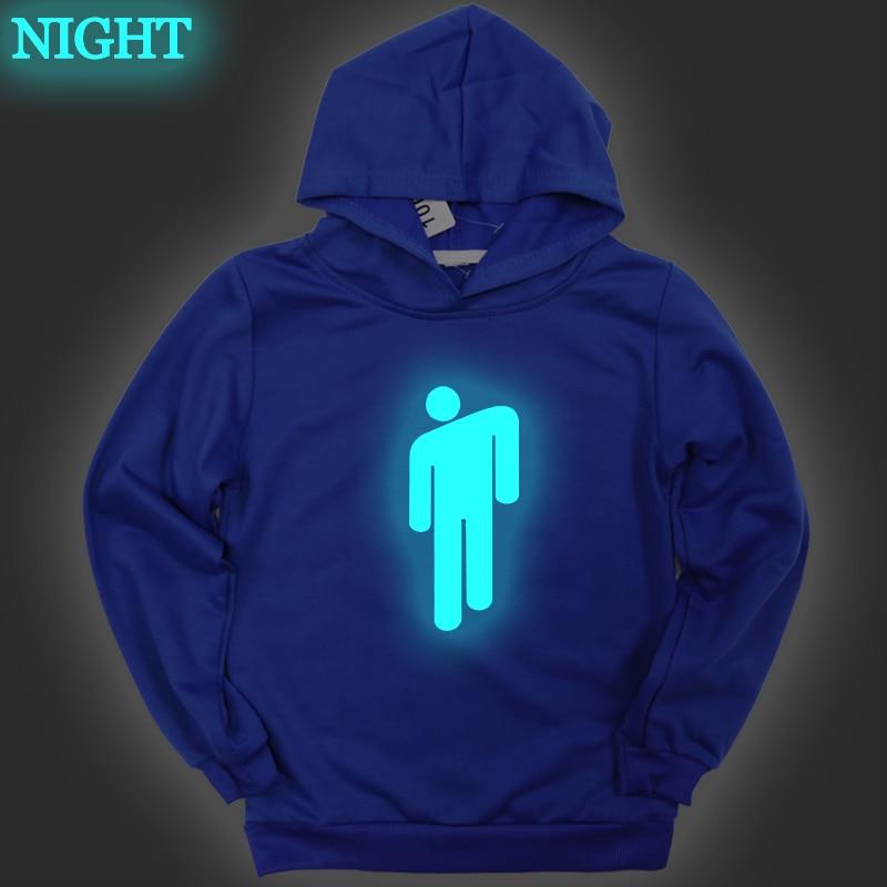 Billie Eilish Hoodie For Kids Hip Hop Luminous Casual Sweatshirts Teenagers Bad Guy Sports Spring Kpop Unisex Hoody Pullover