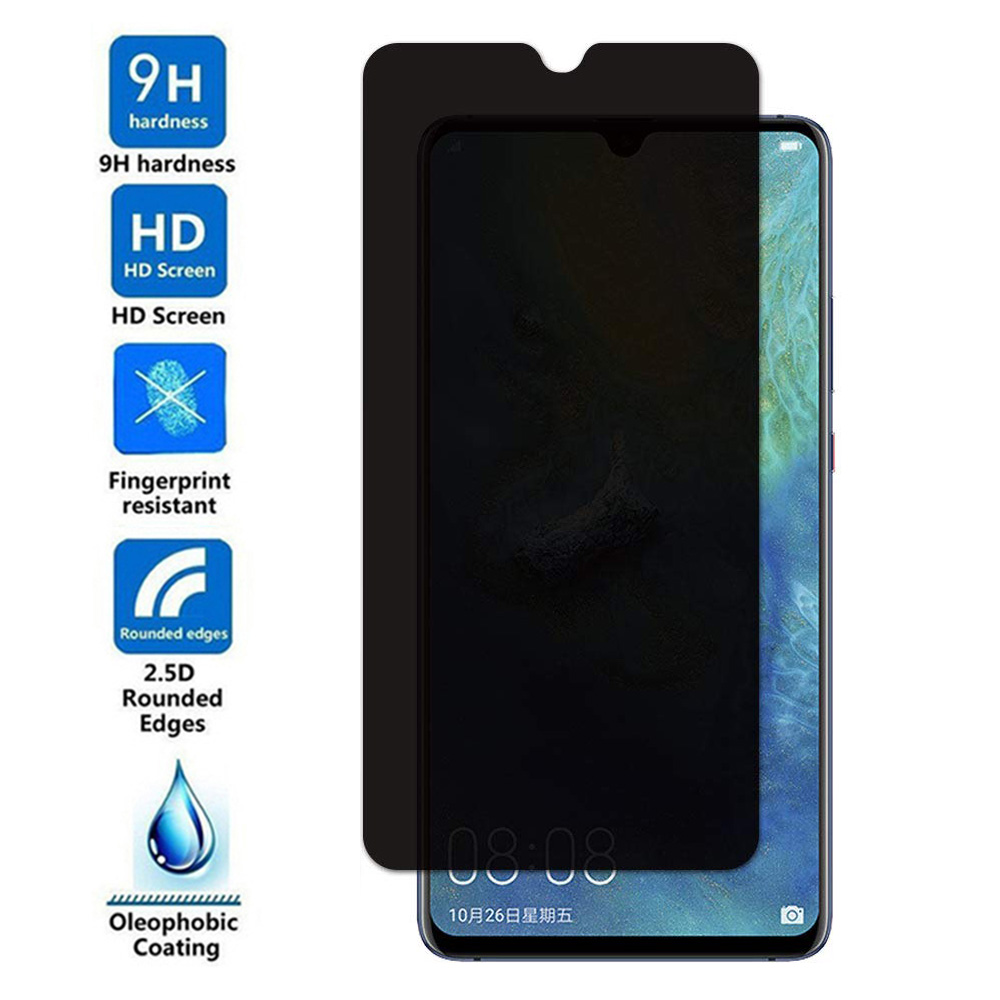 2.5D Privacy Tempered Glass For Huawei Mate <font><b>20</b></font> X Anti Spy Protective Film For Huawei Mate <font><b>20</b></font> 20X Anti Peeping Screen Protector image