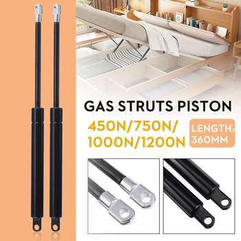 2X 36cm 360mm 450-1200N Universal Shock Lift Strut Support Bar Gas Spring Lift Up Pneumatic Support for Ottoman Storage Bed