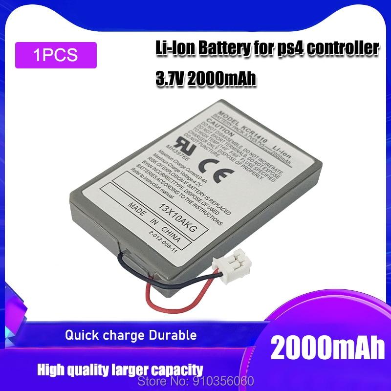 1 pces 3.7v 2000mah bateria de substituição para sony ps4 bluetooth sem fio dupla choque controlador primeira geração CUH-ZCT1U