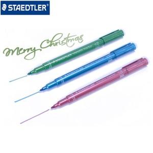 Image 2 - Staedtler 8323 금속 색상 마커 펜 사용 DIY 카드 사무실 및 학교 편지지 용품 5 개/몫
