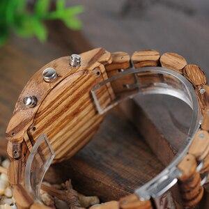 Image 5 - BOBO kuş kadınlar saatler relogio feminino ahşap bayanlar kuvars kronometre kol saati hediye kız arkadaşı için kutusu saat erkek saat