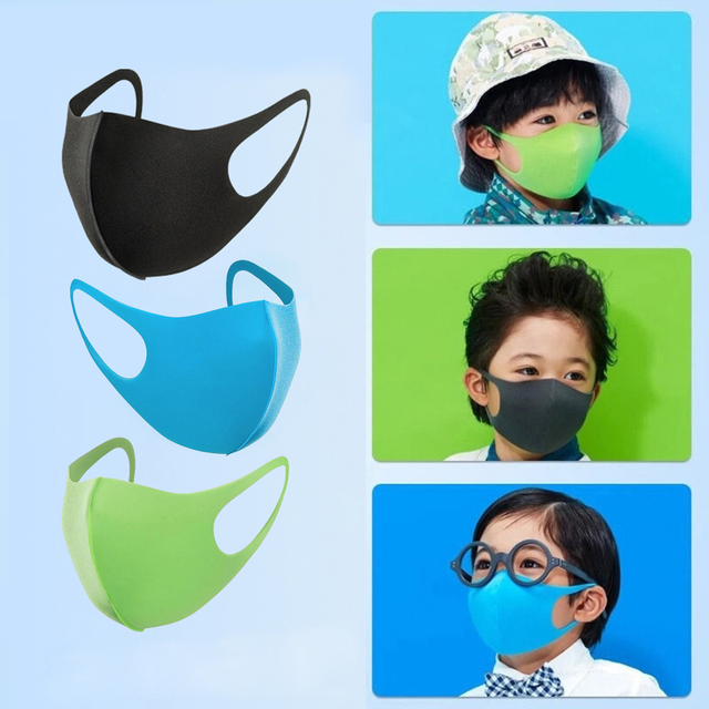 10PCS Kids Dust-proof PM2.5 Mouth Mask  PU Sponge Washable Mouth Cover for Children Breathable Respirator Face Mouth Masks 1