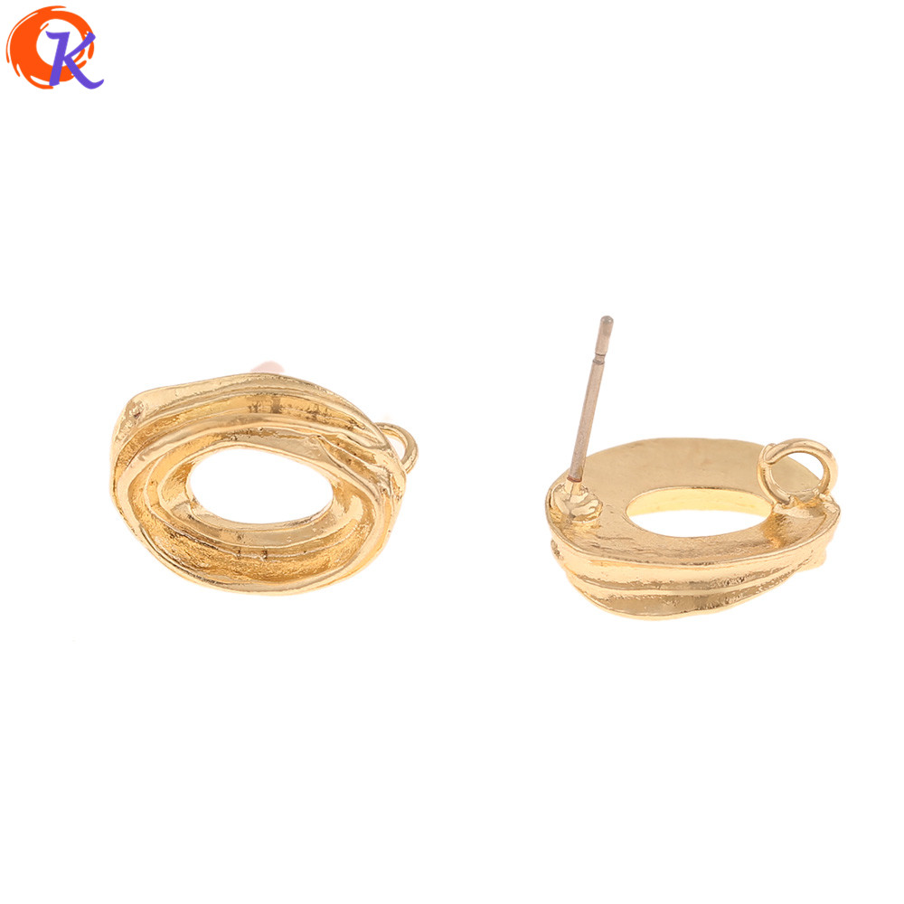Cordial Design 100Pcs 12*16MM Jewelry Accessories/DIY Parts/Earring Findings/Oval Shape/Earrings Making/Hand Made/Earrings Stud