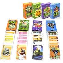 55 шт  Растения против Зомби персонажей покер карты ПВЗ игровая