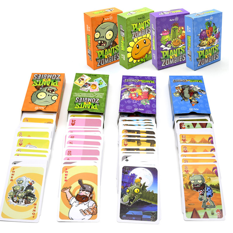 55pcs Plants Vs Zombie Characters Poker Cards PVZ Game Card Poker Game Board Game Card Creative Gift