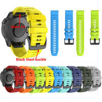 26 22 20MM Watchband Strap for Garmin Fenix 6X 6 5 6S Pro 5S Plus 3 3HR Watch Quick Release Silicone Easyfit Wrist Band Strap