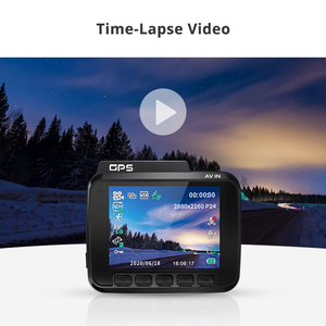 Image 4 - AZDOME GS63H 2.4inches 4K registrar LCD Screen Dash cam Built in GPS Speed Coordinates WiFi DVR 2160p Dual Lens Video recorder
