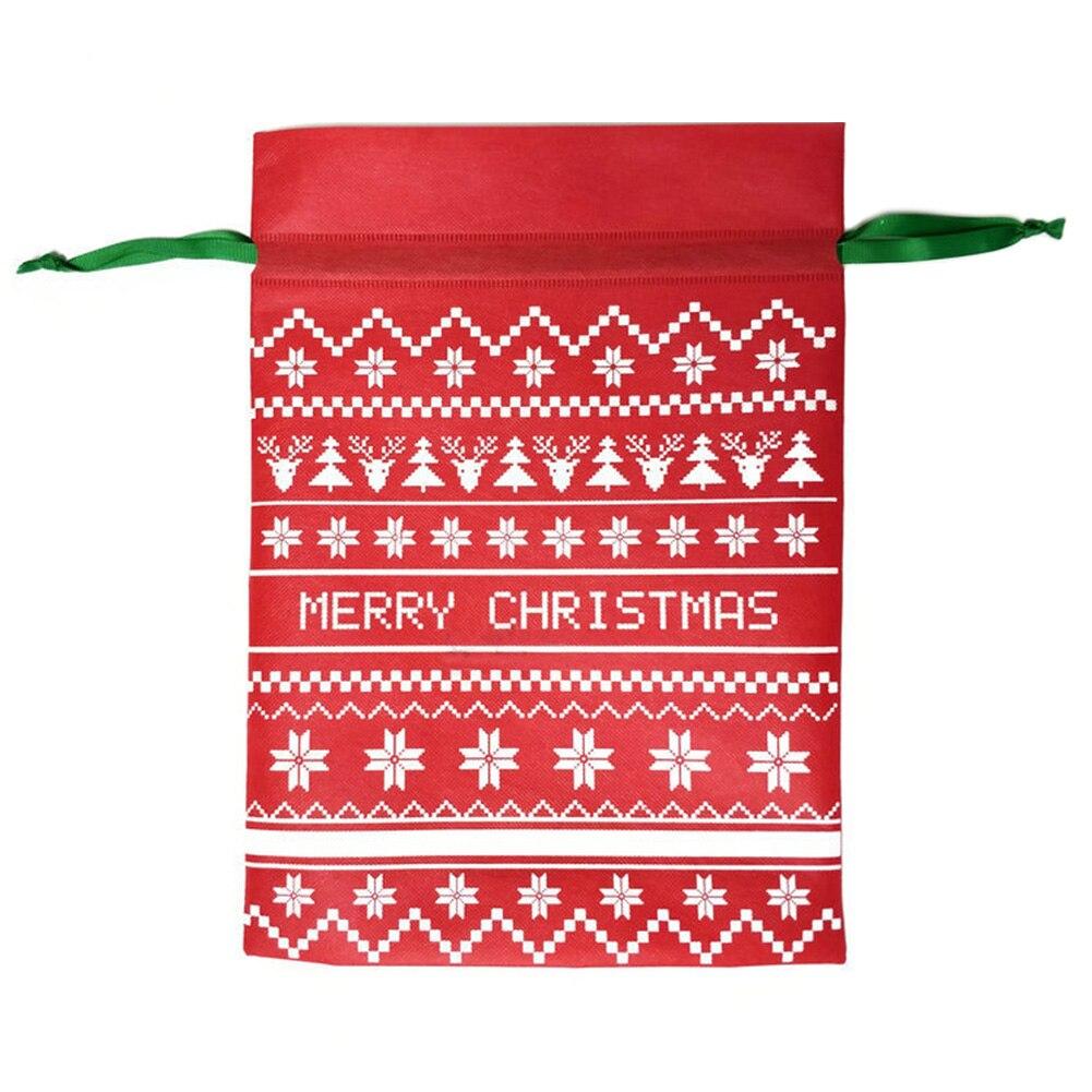 Sugar Candy Bag Drawstring Christmas Home Kids Festival Decoration Gift Lightweight Handbag Cute