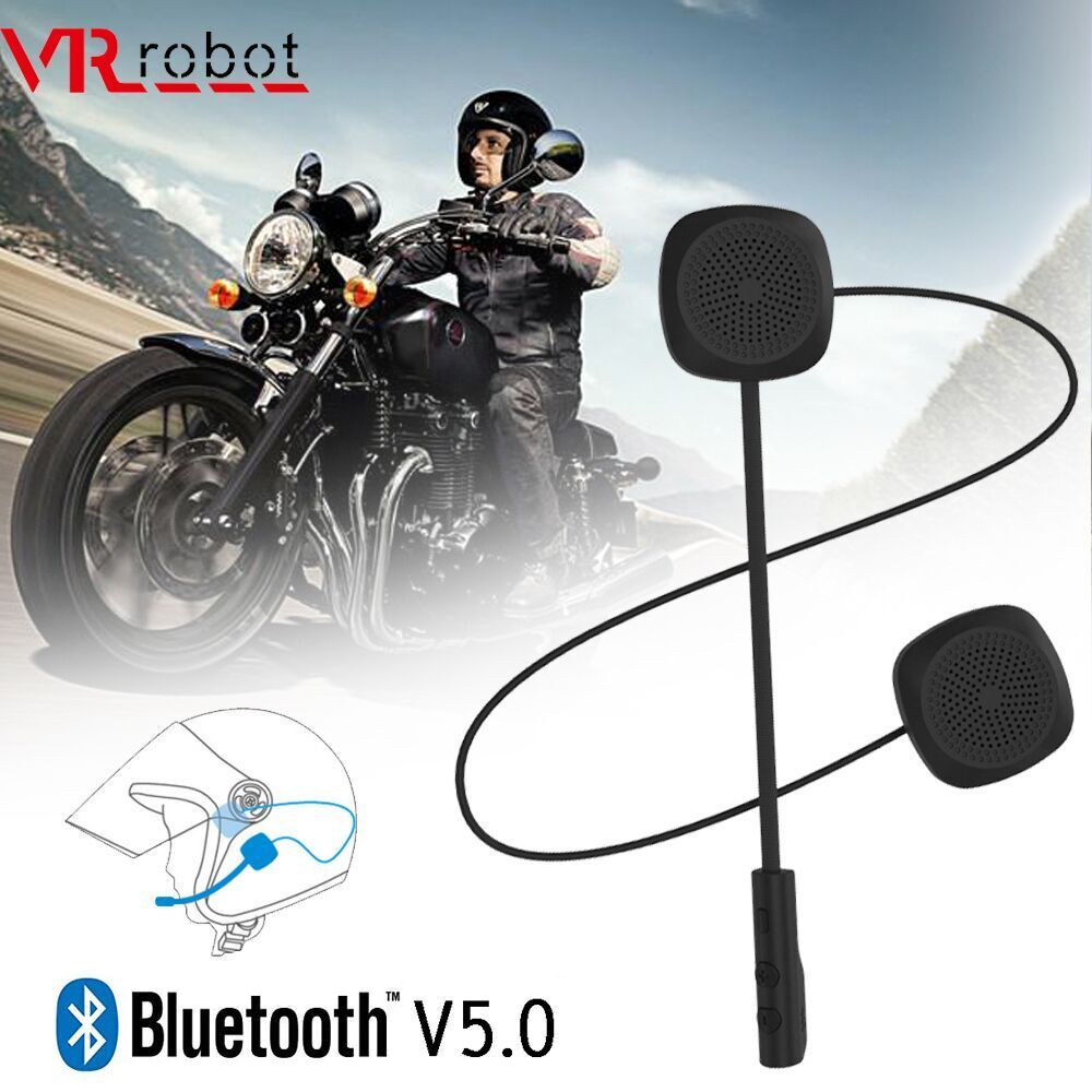 VR robot Bluetooth 5.0 Moto Helmet Headset Wireless Handsfree Stereo Earphone Motorcycle Helmet Headphones MP3 Speaker