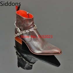 Winter Mode Männer Spitz Zip Ankle Chelsea Stiefel PU Leder Stiefel Herren Männlichen Casual Zapatos De Hombre D181