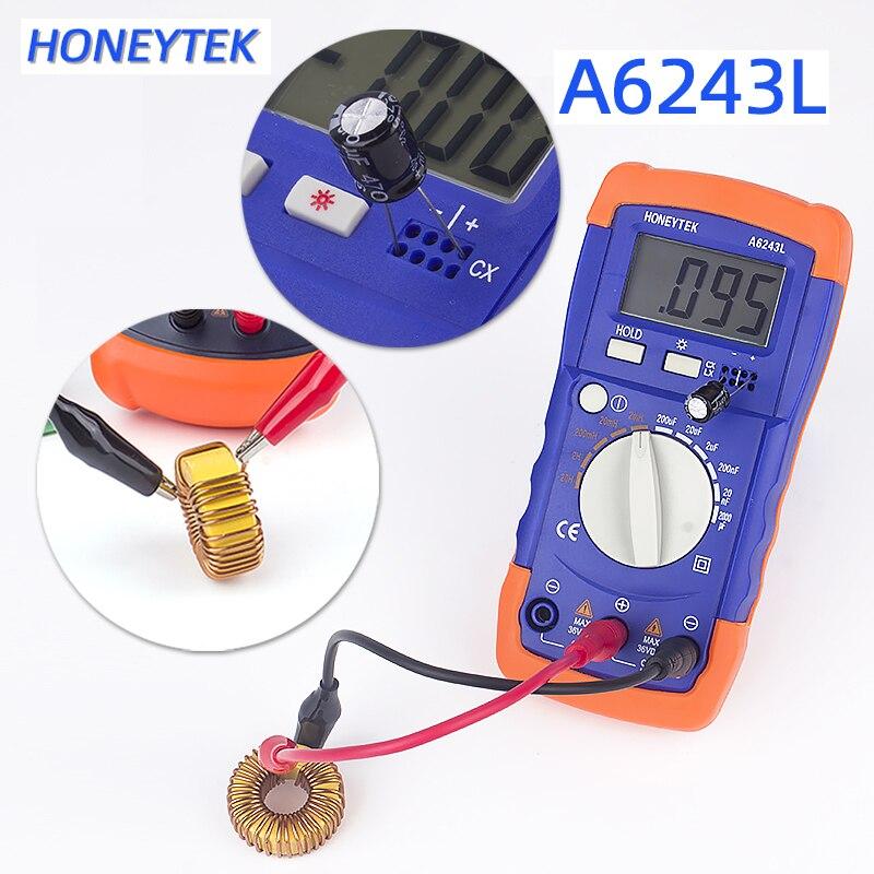 HONEYTEK Precision Digital Capacitance Inductance Meter Component Tester Inductance Multimeter Lc Capacitance Meter