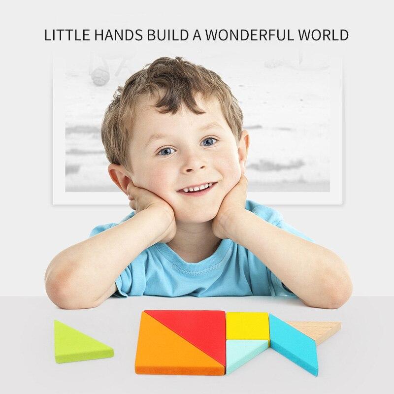 criancas 3d quebra cabeca tangram de madeira jogo 04