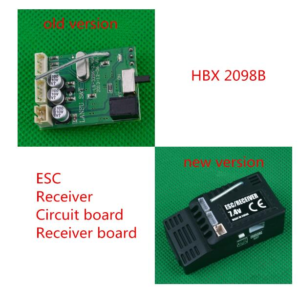 <font><b>HBX</b></font> <font><b>2098B</b></font> HBX2098B 1/24 4WD Mini Car Spare <font><b>Parts</b></font> ESC Receiver Receiver board Circuit board image