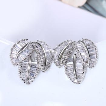 New Trendy Women Wedding earrings  Setting with Cubic Zirconia  Allergy Free Trendy earrings  Free Shipping