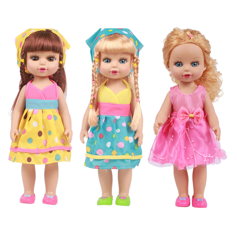 35cm Reborn Baby Cartoon Dolls Vinyl Silicone Lifelike Kids Simulation Toys Cute Pretty Dolls For Baby Girls Toys Birthday Gifts