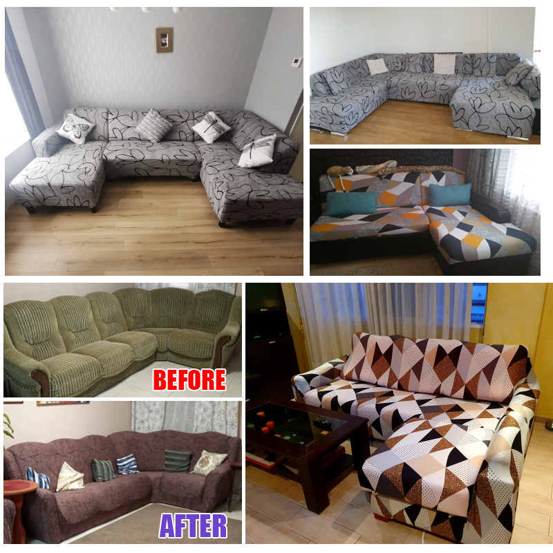 sofa cover elastic couch cover sectional chair cover It needs order 2pieces sofa cover if your sofa is corner L-shape sofa