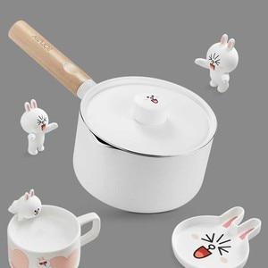 Image 5 - Mini süt tavaları noel hediyesi çikolatalı süt çorbası yapışmaz pişirme kabı için genel kullanım gaz ve indüksiyon ocak