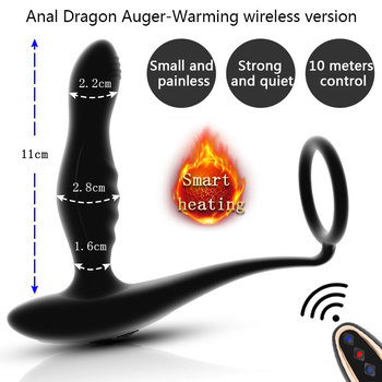 Tapón juguete sexual estimulador de próstata, vibrador, calefacción inteligente, Juguetes sexuales para adultos, consolador para hombres/mujeres, entrenador Anal para parejas