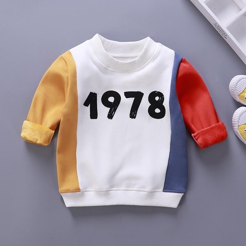 Children Sweaters Fleece Warm Girls Shirts Cotton Boys Tops Winter Kids Clothing Toodler Sweatershirts
