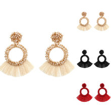 Bohemian Ethnic Handmade Long Tassel Earrings for Women Beads Dangle Drop Earrings Hot Boho Jewelry(China)
